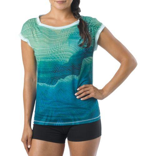 Womens Prana Electra Tee Short Sleeve Technical Tops - Dragonfly XL