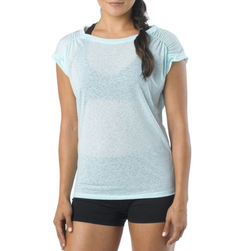 Womens Prana Electra Tee Short Sleeve Technical Tops - Mist L