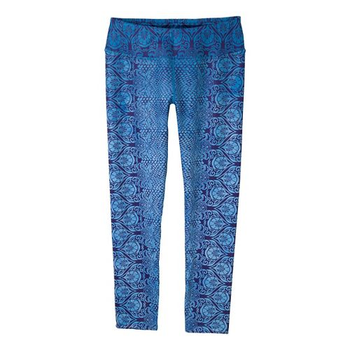 Womens Prana Roxanne Printed Legging Fitted Tights - Blue Twilight/Nouveau M