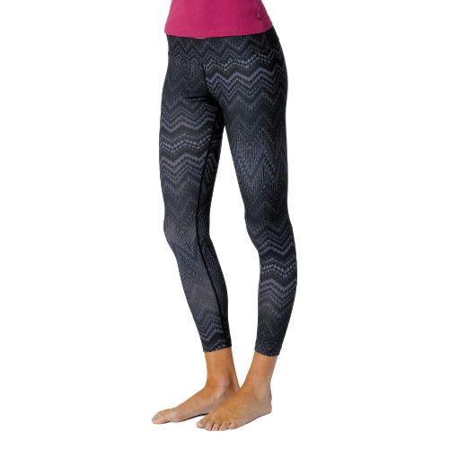 Womens Prana Roxanne Printed Legging Fitted Tights - Coal XS