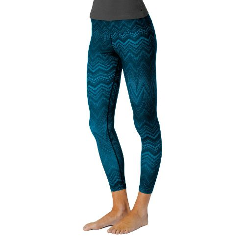 Womens Prana Roxanne Printed Legging Fitted Tights - Dragonfly L