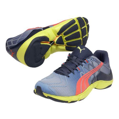 Mens Puma Mobium Elite v2 Running Shoe - Blue/Lime 10.5