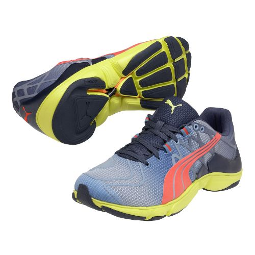 Mens Puma Mobium Elite v2 Running Shoe - Blue/Lime 13