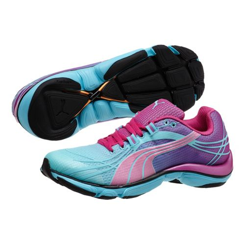 Womens Puma Mobium Elite v2 Running Shoe - Aqua Splash/Blue Atoll 11