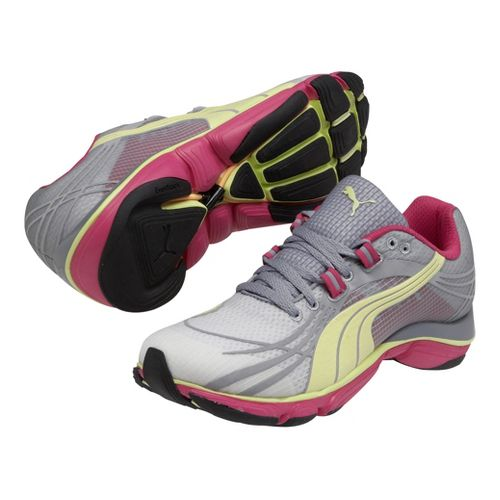 Womens Puma Mobium Elite v2 Running Shoe - White/Tradewinds 8.5