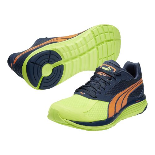 Mens Puma Faas 700 v2 Running Shoe - Navy/Neon 11.5