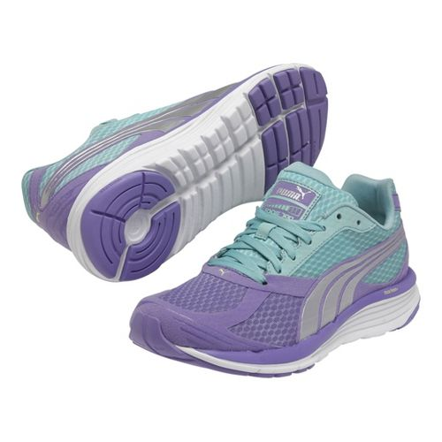 Womens Puma Faas 700 v2 Running Shoe - Purple/Green 7.5
