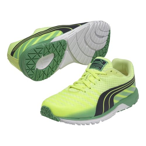 Mens Puma Faas 300 v3 Running Shoe - Fluro Yellow/Island Green 10.5