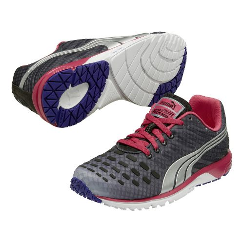 Womens Puma Faas 300 v3 Running Shoe - Charcoal/Pink 11.5