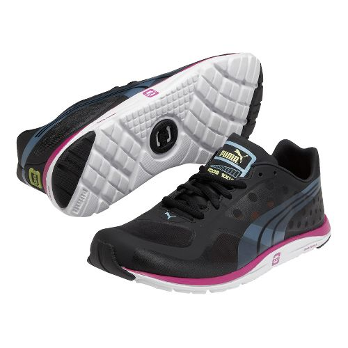 Womens Puma Faas 100 R Running Shoe - Black 5.5