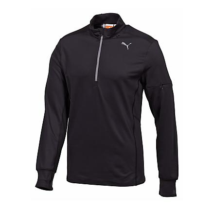 Mens Puma Long Sleeve 1/2 Zip Technical Tops