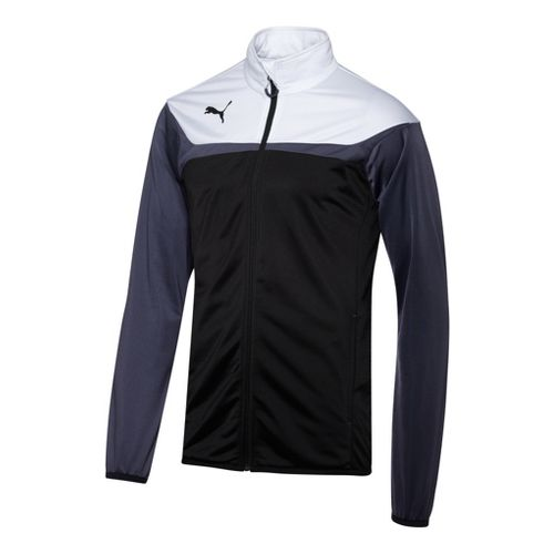 Mens Puma Esito 3 Tricot Running Jackets - Black/White L