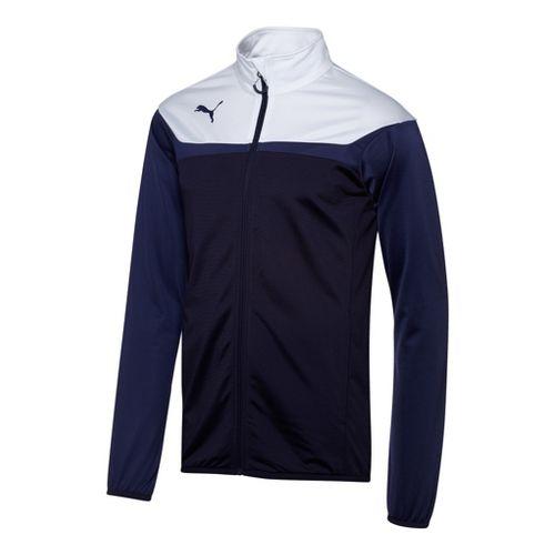 Mens Puma Esito 3 Tricot Running Jackets - New Navy/White S