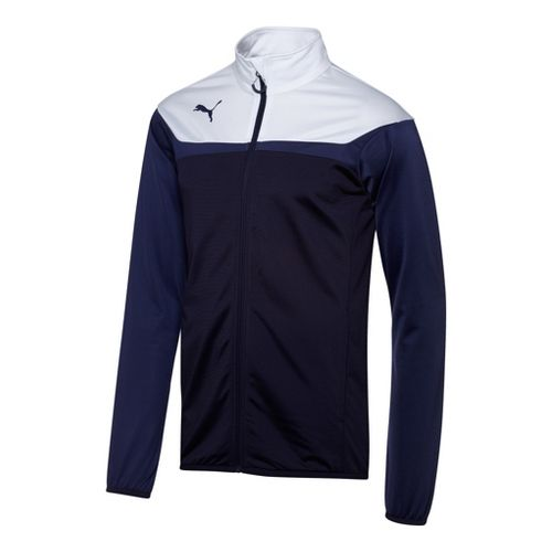 Mens Puma Esito 3 Tricot Running Jackets - New Navy/White XL