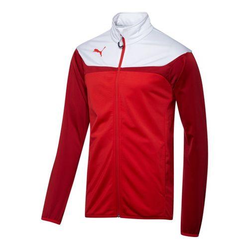 Mens Puma Esito 3 Tricot Running Jackets - Red/White L