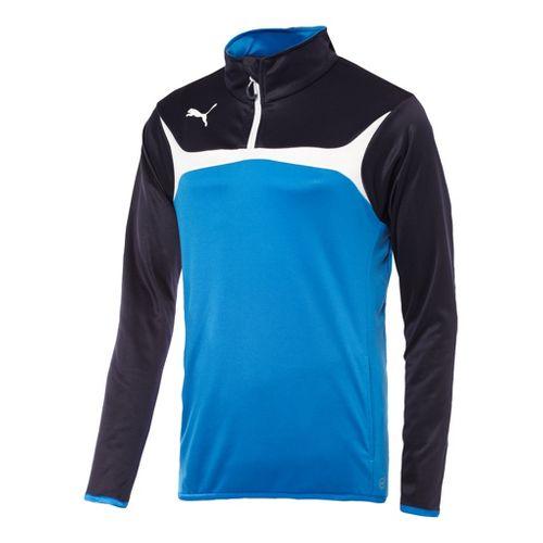 Mens Puma Esito 3 Training Jacket Long Sleeve 1/4 Zip Technical Tops - Royal/White S ...