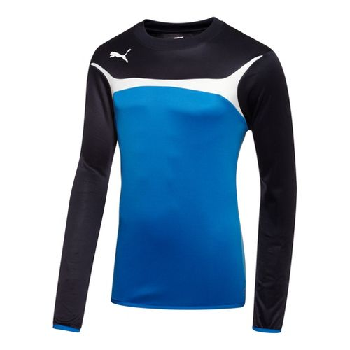 Mens Puma Esito 3 Training Sweat Long Sleeve No Zip Technical Tops - Royal/White L ...