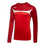 Mens Puma Esito 3 Training Sweat Long Sleeve No Zip Technical Tops