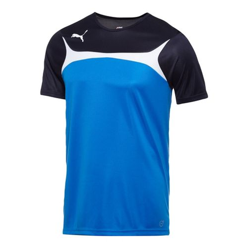 Mens Puma Esito 3 Training Short Sleeve Technical Tops - Royal/White S