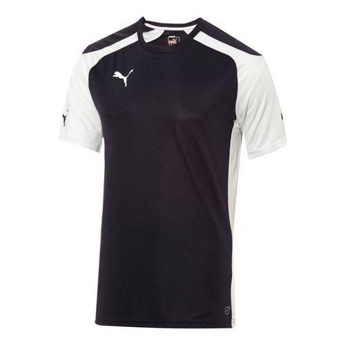 Kids Puma Speed Jersey Short Sleeve Technical Tops - New Navy/White L