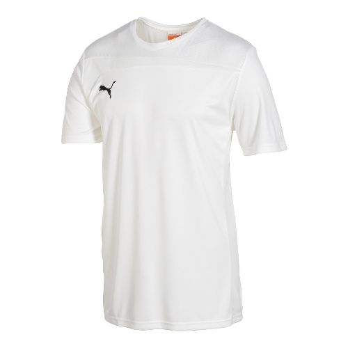 Kids Puma Pulse Jersey Short Sleeve Technical Tops - White/White XL