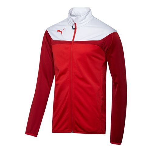Kids Puma Esito 3 Tricot Warm-Up Unhooded Jackets - Red/White M