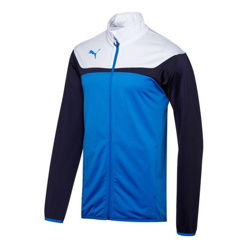 Kids Puma Esito 3 Tricot Warm-Up Unhooded Jackets - Royal/White XL
