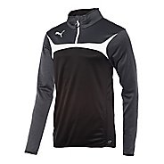 Kids Puma Esito 3 Training Jacket Long Sleeve 1/2 Zip Technical Tops
