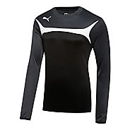 Kids Puma Esito 3 Training Sweat Long Sleeve No Zip Technical Tops