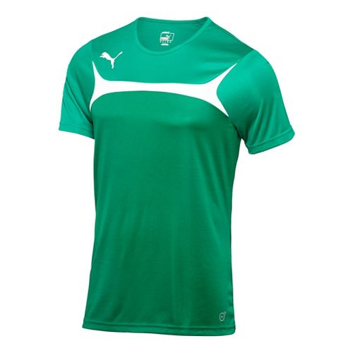 Kids Puma Esito 3 Training Short Sleeve Technical Tops - Power Green/White XL