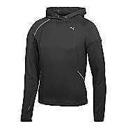 Womens PUMA Hooded Long Sleeve No Zip Technical Tops