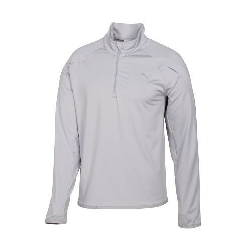 Mens Puma Race LS Long Sleeve 1/2 Zip Technical Tops - High Rise L