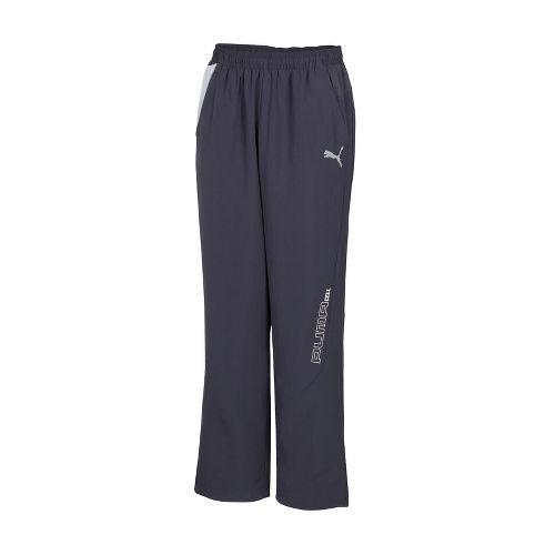 Mens Puma Woven Track Full Length Pants - Ebony L