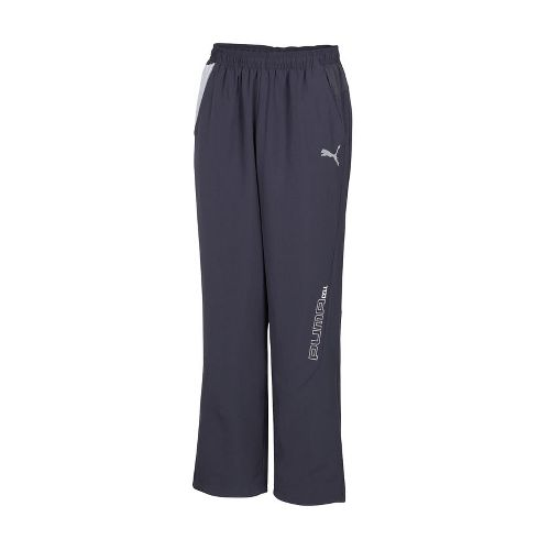 Mens Puma Woven Track Full Length Pants - Ebony S
