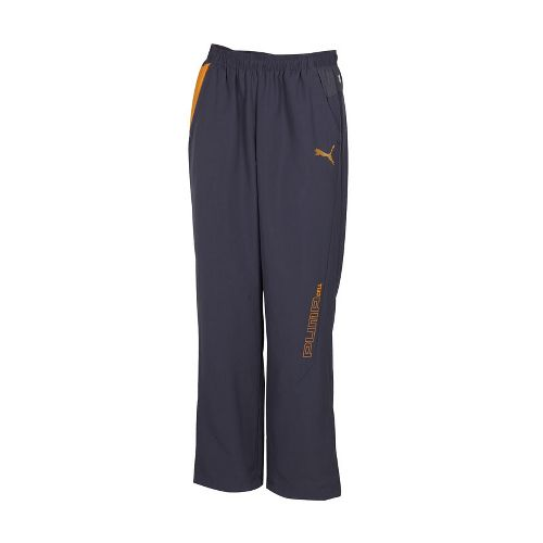 Mens Puma Woven Track Full Length Pants - Ebony/Ebony L