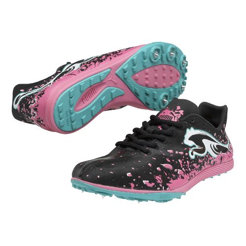 Womens Puma Crossfox XCS Cross Country Shoe - Black/Fluo Pink 12