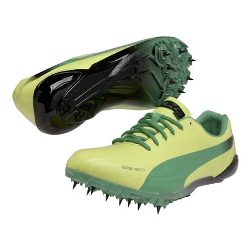 Mens Puma Bolt Evospeed Electric Spike Track and Field Shoe - Fluro Yellow/Island Green 8 ...