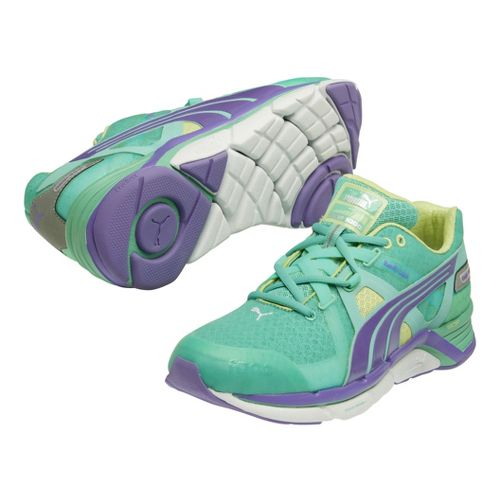 Womens Puma Faas 1000 Running Shoe - Electric Green/Dahlia Purple 10