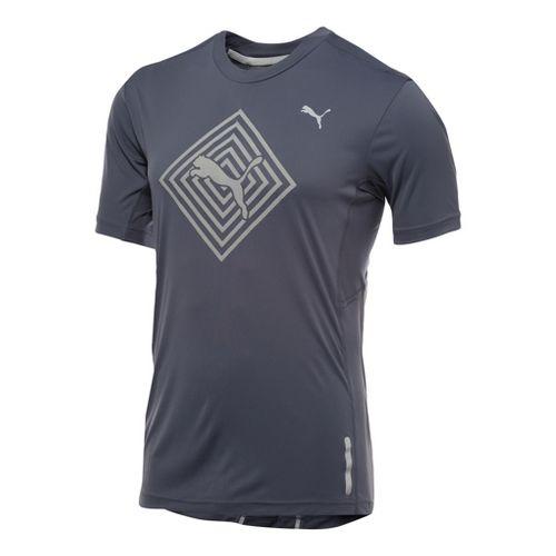 Mens Puma Pure Nightcat T-Shirt Short Sleeve Technical Tops - Ombre Blue XL