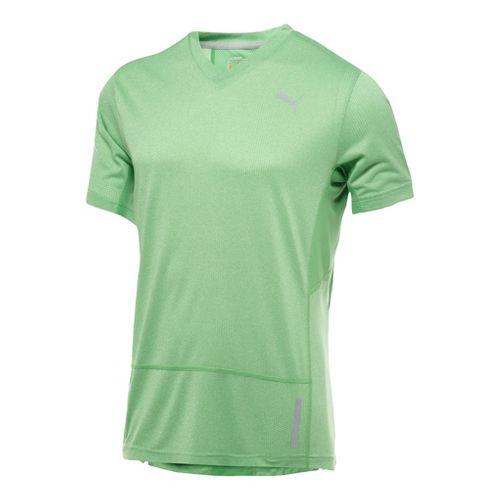 Mens Puma Progressive Trend T-Shirt Short Sleeve Technical Tops - Island Green/Heather XXL