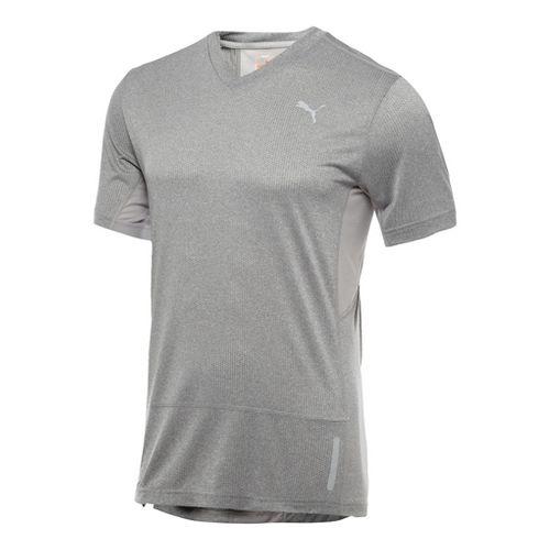 Mens Puma Progressive Trend T-Shirt Short Sleeve Technical Tops - Medium Grey Heather L