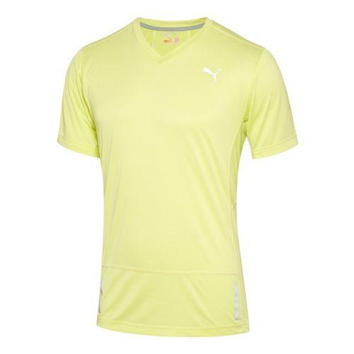 Mens Puma Progressive Trend T-Shirt Short Sleeve Technical Tops - Sunny Lime L