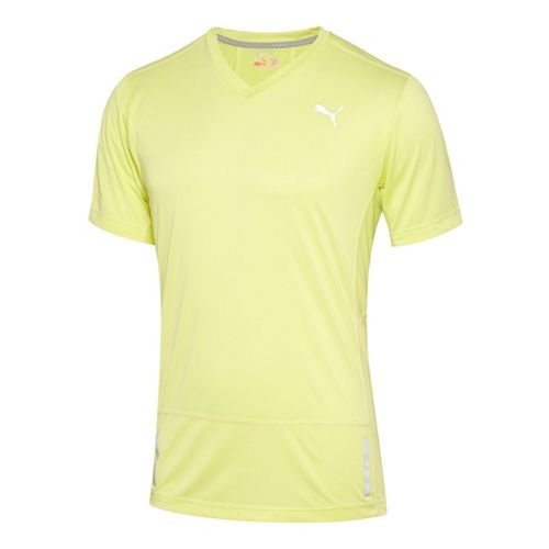 Mens Puma Progressive Trend T-Shirt Short Sleeve Technical Tops - Sunny Lime M