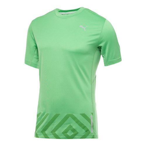 Mens Puma Graphic 1up T-Shirt Short Sleeve Technical Tops - Island Green M
