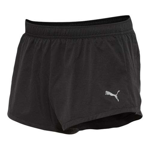 Mens Puma Running Splits Shorts - Black/Black L