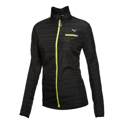 Womens Puma Pure Nightcat Running Jackets - Black L
