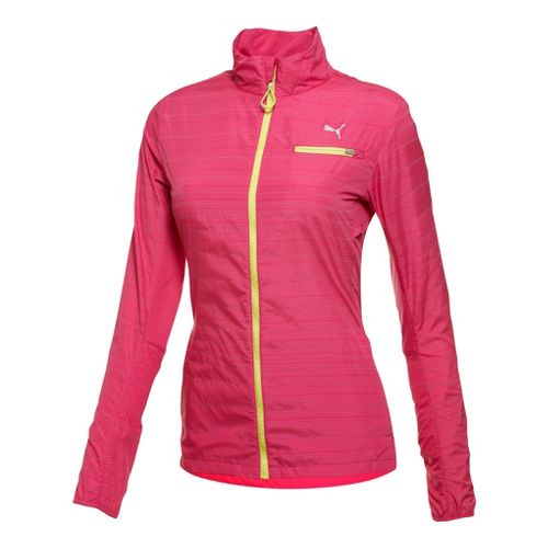 Womens Puma Pure Nightcat Running Jackets - Beetroot Purple M