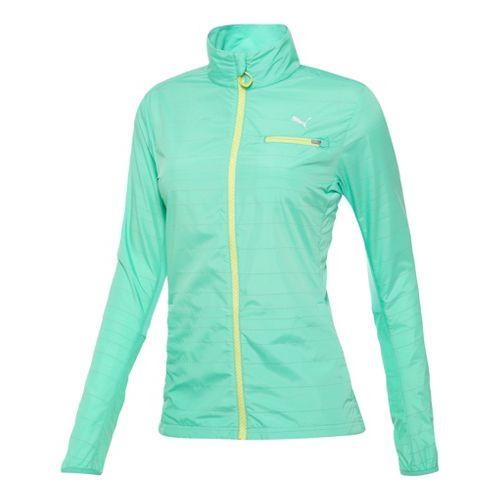 Womens Puma Pure Nightcat Running Jackets - Electric Green L