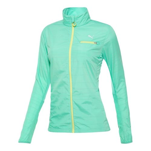 Womens Puma Pure Nightcat Running Jackets - Electric Green S
