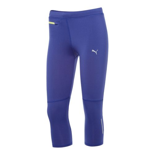 Womens Puma Pure 3/4 Capri Tights - Spectrum Blue XL